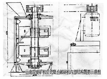 立式复合破碎机内部结构示意图